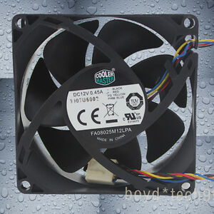 Details about COOLER MASTER FA08025M12LPA 80mm 80x80x25mm DC12V 0 45A 8025  4pin Cooling Fan