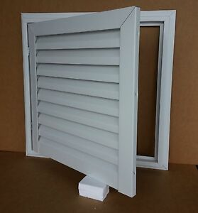 24 Quot Wide X 24 Quot Tall Hinged Aluminum Gable Vent With White