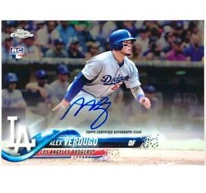 2018 Topps Chrome RC Alex Verdugo on-card autograph Rookie auto Dodgers Red Sox