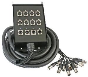 24 CH 98 /' Cable Snake.8 Returns.Pro Audio Sound Gear.3 PIN XLR.Concert Tech