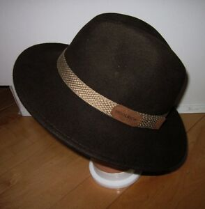 Image is loading Woolrich-Safari-Outback-Wool-Felt-Brown-Hat-Small efdf8d0d37d