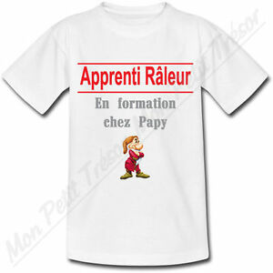 T-shirt Bébé Apprenti Râleur en formation chez Papy