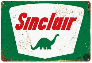 Sinclair-Gas-Station-Motor-Oil-Garage-Tin-Metal-Wall-Decoration-Sign-8-034-x-12-034