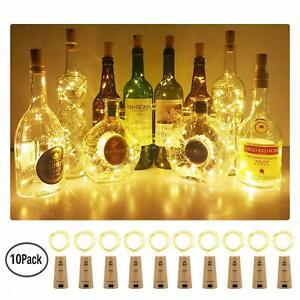 10-20-LED-Weinflasche-Kork-String-Light-Nacht-Lichterkette-Party-Flaschenlicht