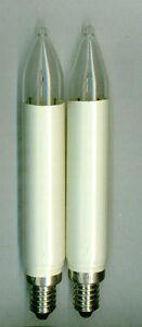 Schwibbögen & Lichterbögen 3W E10 Birne Kerzen Lampe Glühbirne Leuchtmittel Kleinschaftkerze 2er Set 16V