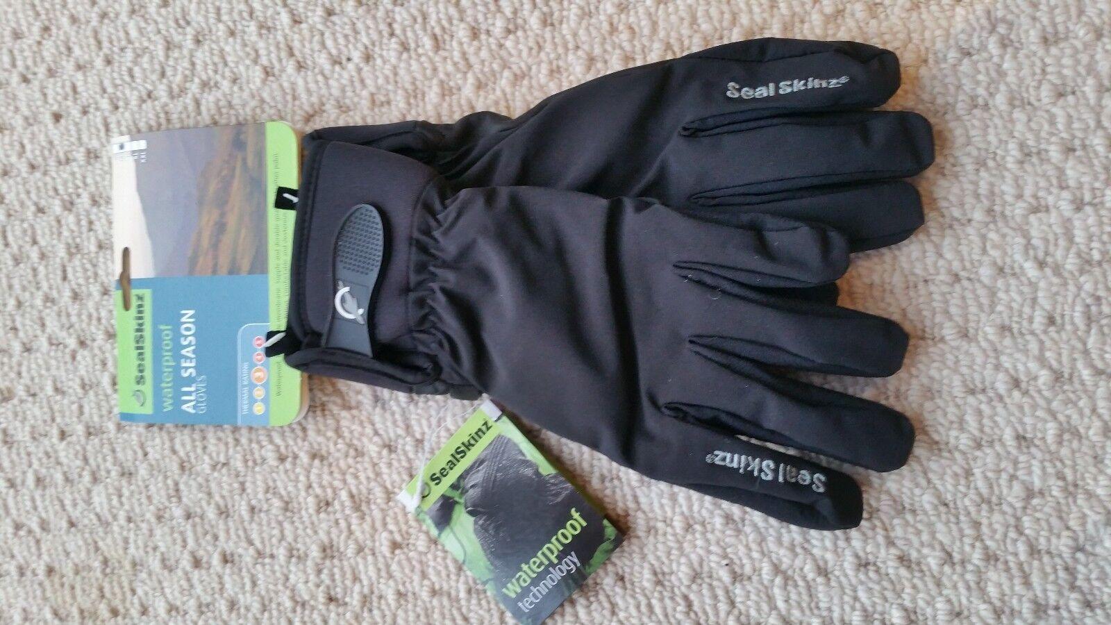 SEALSKINZ Unisex Sealskinz Ladies All Weather Cycle Glove Sky Blue NEU