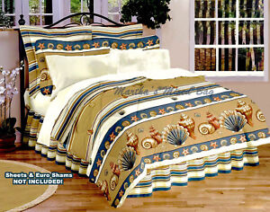 Seashell Beige Comforter Set Tropical Beach Coastal Twin Full Queen King Sizes Ebay