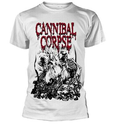 Verantwortlich Cannibal Corpse - Pile Of Skulls 2018 White T-shirt