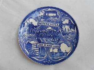 VTG-Minnesota-Land-of-10-000-Lakes-Souvenir-PlateMayo-Clinic-Capitol-Falls-Left