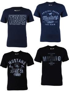 Mustang-Camiseta-Hombre-con-impresion-Frontal-corte-de-cuello-redondo-Mezcla