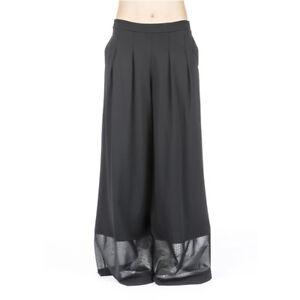 Pantalone Donna 7382 Jaimè Nero Palazzo Zampa Jaime Largo S M Ebay