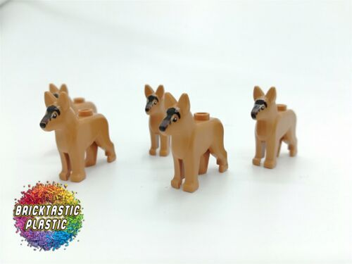 x5 German Shepherd minifigure 10264 60140 LEGO City Dog