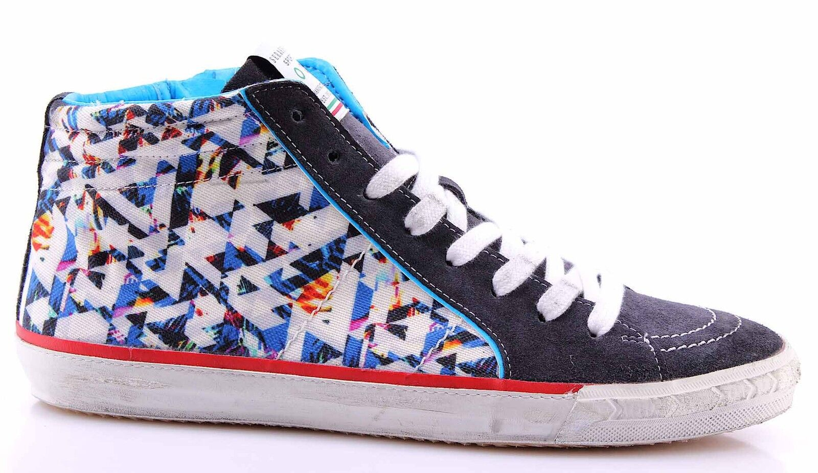 Men's shoes High Top Sneakers SERAFINI Sport 4191 Caracas 3D Ice Multicolor New