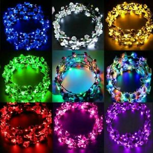 Wedding-Party-Crown-Flower-Headband-LED-Light-Up-Hair-Hairband-Garlands-Gift