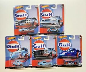HOT-WHEELS-2019-CAR-CULTURE-GULF-RACING-COMPLETE-SET-OF-5-VW-MUSTANG-IN-STOCK
