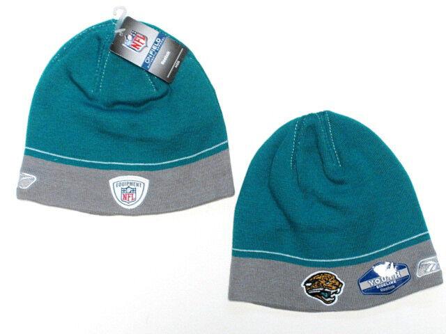 998e9fa02f9 Jacksonville Jaguars NFL Youth Reebok Sideline Two Tone Hat Cap Knit Blue  Beanie