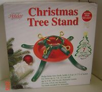 Christmas Tree Stand Trees Up To 7' Tall Metal Red Green Up To 4 Trunk