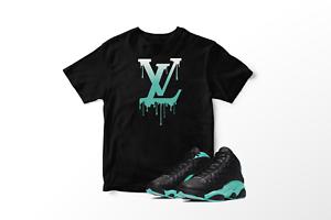VL-Drip-Graphic-T-Shirt-to-Match-Air-Jordan-XIII-13-039-s-Island-Green-All-Sizes