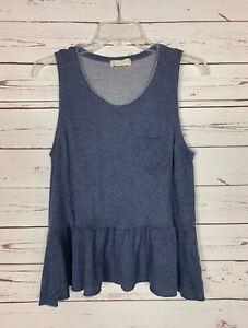 Altar-039-d-State-Women-039-s-S-Small-Blue-Soft-Knit-Sleeveless-Summer-Tank-Top-Shirt