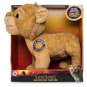 DISNEY-Lion-King-Simba-Talking-in-movimento-e-musica-giocattolo-morbido-medio-peluche-NUOVO