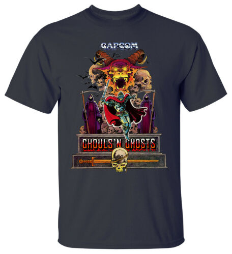 GAME Ghouls /'n Ghosts V1 VIDEO GAME 1988 T Shirt All sizes S-5XL WHITE BLACK