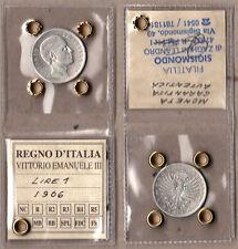 LIRE 1 VITTORIO EMANUELE III 1906 AQUILA ARALDICA SIGILLATA BUONA CONSERVAZIONE