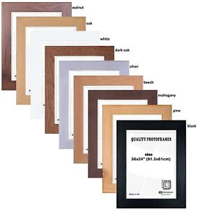 Wood-Effect-Maxi-Poster-Frame-61x91-5cm-24x36-034-Various-Colours