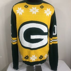 Green Bay Packers Ugly Christmas Sweater Sweatshirt Mens Xl Nfl