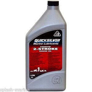 Details about Quicksilver Premium 2-Stroke Oil, 1 Litre, 92-858021QB1  Mercury Outboard Engines