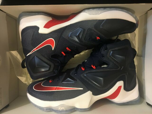 8f29b5ce4a949 NEW NIKE LEBRON XIII 13 USA MIDNIGHT NAVY JAMES SNEAKERS 807219-461 MENS  SIZE 8