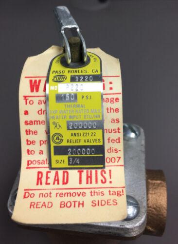 """Zurn//Wilkins P220-150 3//4/"""" Pressure Relief Valve Equal to Watts 174A"""