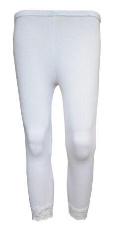 3//4 Girls Leggings Cropped Lace Hem 3//4 Length Pants