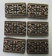 6 x 5 Hole Metal Spacer Bead For Beading & Jewellery Making Antique Copper Tone
