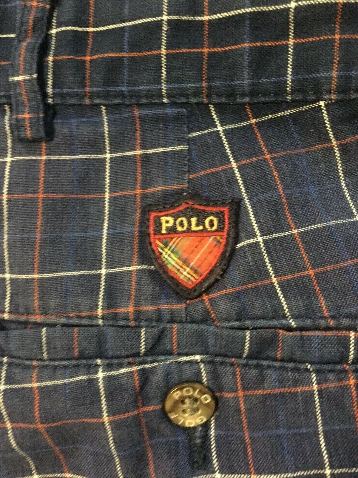 Vtg 90s Polo Ralph Lauren Classic Golf Plaid Shor… - image 5