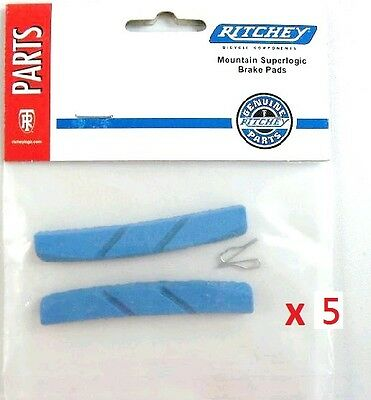 Ritchey Superlogic V-Brake Pad Inserts Blue Brand New 5 Pair (10PCS) W
