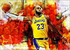 2021-Lebron-James-Los-Angeles-Lakers-5-25-Art-ACEO-Print-Card-By-Q