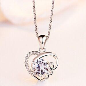 925-Silber-Luxus-Kristall-Herz-Anhaenger-Halskette-A
