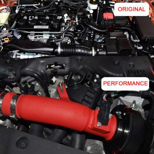 Turbo Aluminum Piping Filter Red Air Intake Kit For Honda Civic 2016 Clamp