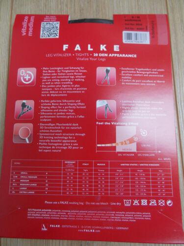 M//L FALKE-MATT 20 Collants entièrement neuf sous emballage taille S//M XL 38-40 42-44 48-50 Vitalizer