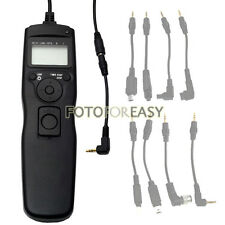 Timer Remote Cord for Canon Rebel XSi T1i T2i T3i T4i T5i T6i T6s XT XTi T3 T5