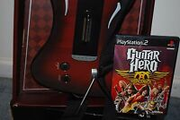 Psyclone Wireless Guitar Hero PS2 Playstation 2 Controller & AeroSmith  Lot