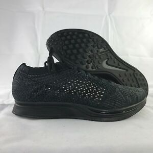 3f65189b468cd Image is loading Nike-Flyknit-Racer-Triple-Black-Anthracite-526628-009-