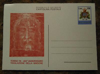San Marino Zuversichtlich Sonderpostkarte San Marino Torino 78 Turiner Leichentuch Postkarte Ungelaufen S6