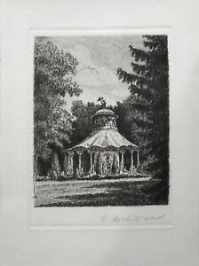 Aguafuerte-R-juez-pequena-capilla-del-bosque-rondell-15-x-20-cm
