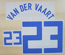 *12 / 13 - EUROPEAN / NAME AND NUMBERED; VAN DER VAART 23 ; SIZE = ADULTS*