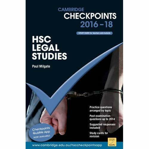 Cambridge Checkpoints HSC Legal Studies 2016-18 (Cambri - Paperback NEW Milgate,