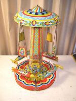 Vintage 1952 Chein RIDE A ROCKET #400 Tin Litho Wind-up Toy w/ Box