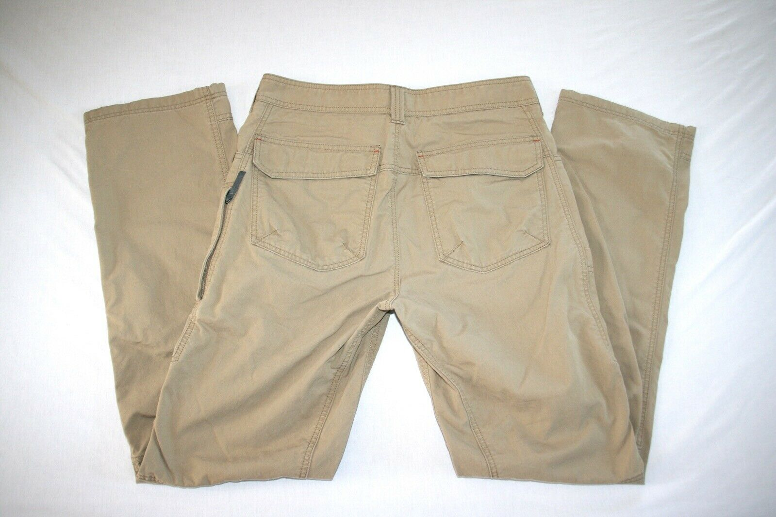 LL Bean Rigreenon Pants Men 32x34 Khaki NEW