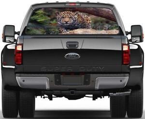 Jaguar Tiger Leopard Rear Window Decal Sticker Car Truck SUV Van Animals 575
