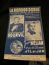 Partition la Dondondodue Jacques Hélian Bourvil Music Sheet